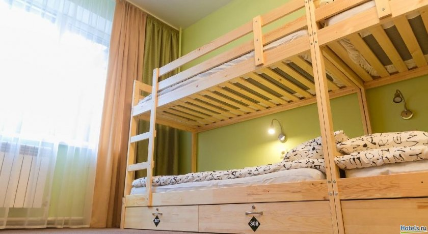 Фото номер Парк хостел Кровать в общем номере с 12 кроватями